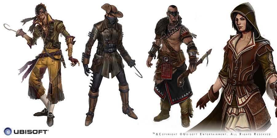 Character Design Assassin's Creed, Johan Grenier